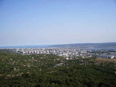 Pohled na bulharské pobřežní město Varna